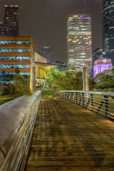 Photograph - Houston At Night by James Woody