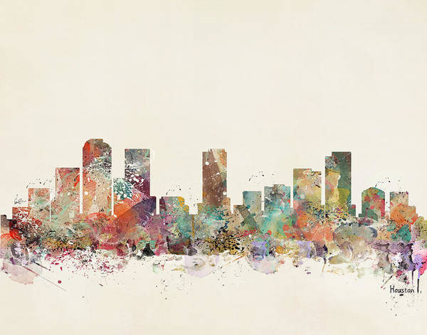 Houston Texas Painting - Houston City by Bri Buckley
