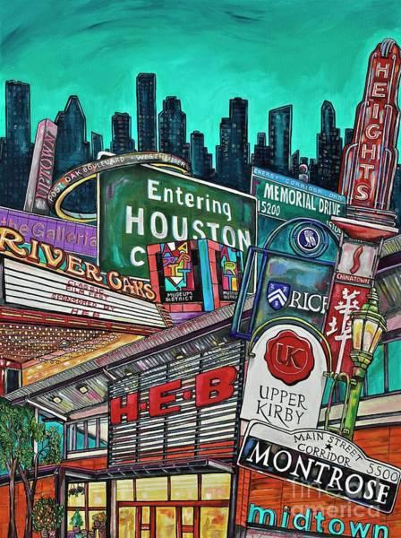 Painting - Houston City Limits by Patti Schermerhorn