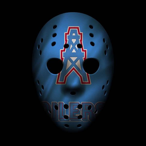 Wall Art - Photograph - Houston Oilers War Mask by Joe Hamilton
