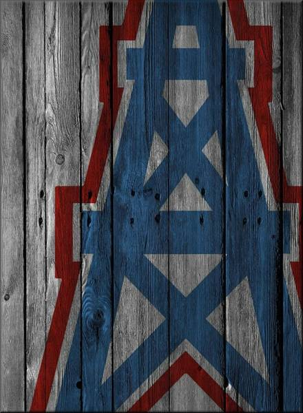 Wall Art - Photograph - Houston Oilers Wood Fence by Joe Hamilton