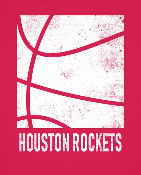 Wall Art - Mixed Media - Houston Rockets City Poster Art 2 by Joe Hamilton