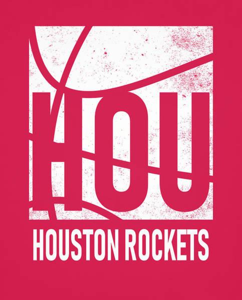 Wall Art - Mixed Media - Houston Rockets City Poster Art by Joe Hamilton
