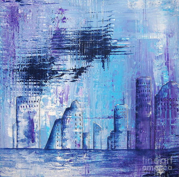 Painting - Houston Skyline 1 by Tamyra Crossley