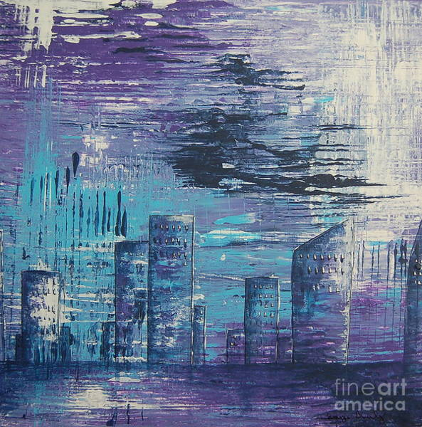 Painting - Houston Skyline 2 by Tamyra Crossley