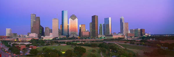 Wall Art - Photograph - Houston Skyline, Memorial Park, Dusk by Panoramic Images