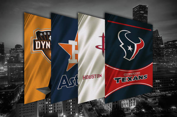 Wall Art - Painting - Houston Sports Teams 2 by Joe Hamilton