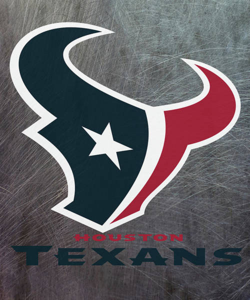 Mixed Media - Houston Texans On An Abraded Steel Texture by Movie Poster Prints