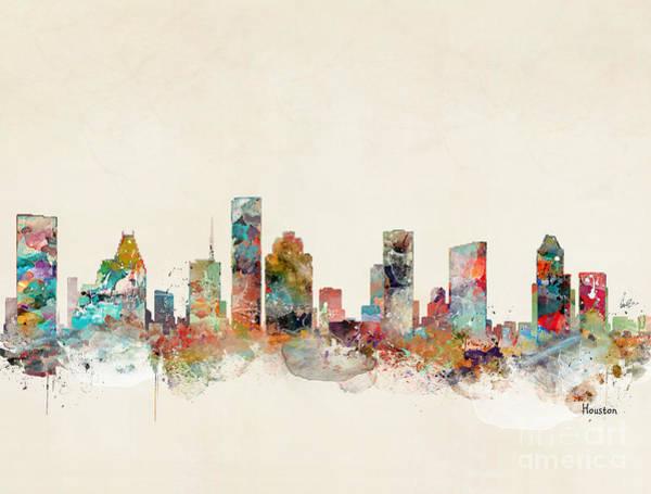 Wall Art - Painting - Houston Texas by Bri Buckley