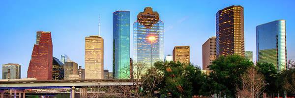 Photograph - Houston Texas Panoramic Skyline by Gregory Ballos