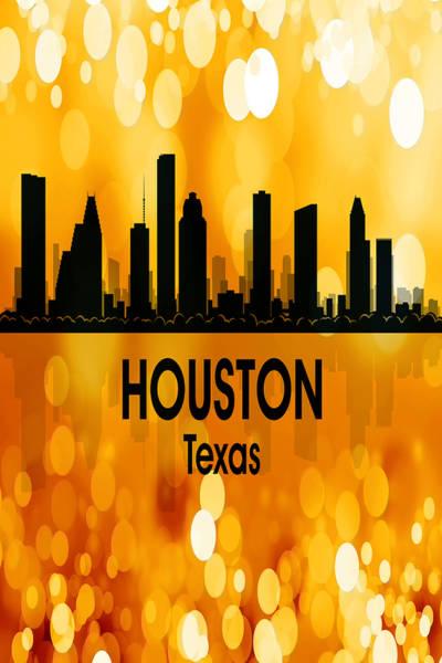 Digital Art - Houston Tx 3 Vertical by Angelina Tamez