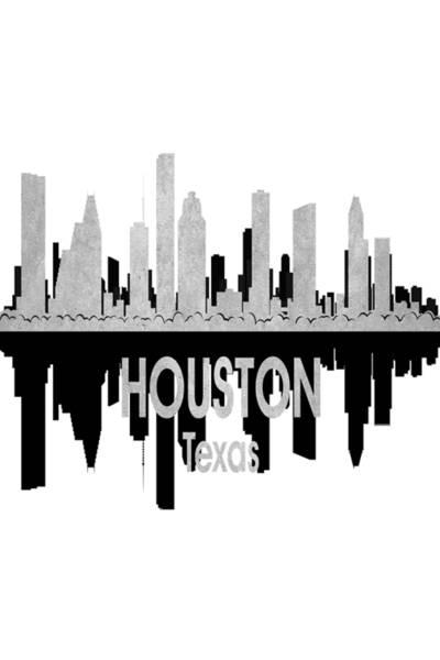 Digital Art - Houston Tx 4 Vertical by Angelina Tamez