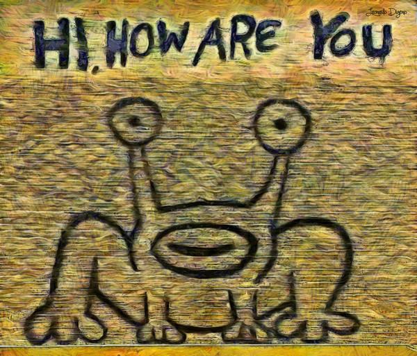 Postmark Painting - How Are You - Pa by Leonardo Digenio