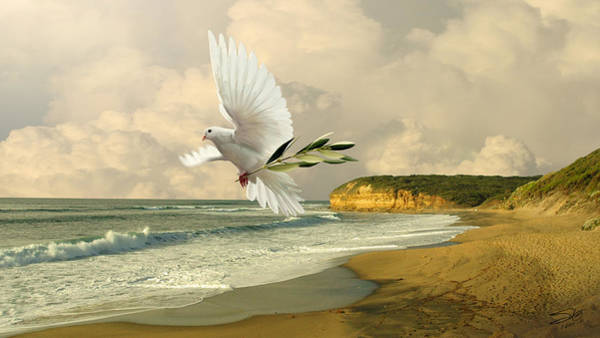 Branch Digital Art - How Many Seas Must A White Dove Sail? by M Spadecaller
