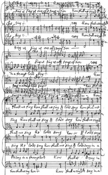 Strange Land Wall Art - Drawing - How Shall We Sing The Lord's Song In A Strange Land by Henry Purcell