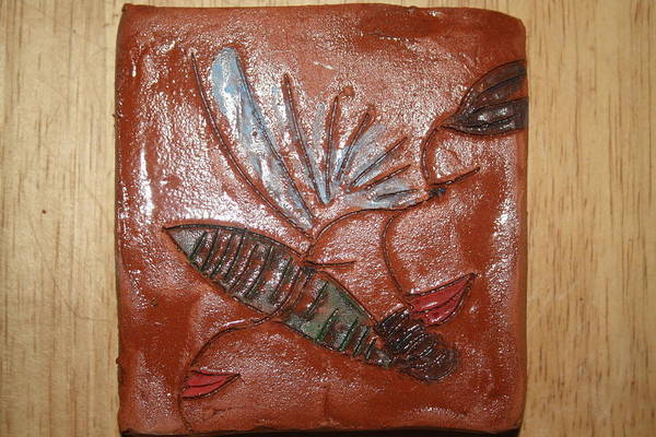 Ceramic Art - How Silently - Tile by Gloria Ssali