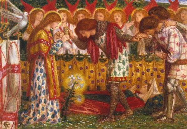 Gabriel Painting - How Sir Galahad by Dante Gabriel Rossetti