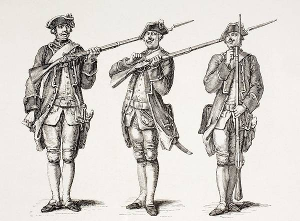 Wall Art - Drawing - How To Charge A Musket. From A French by Vintage Design Pics