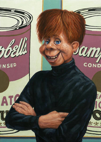 Wall Art - Painting - Howdy Andy Doody by James W Johnson