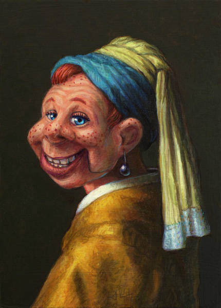 Wall Art - Painting - Howdy With A Pearl Earring by James W Johnson