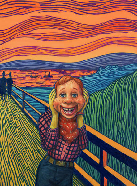 Wall Art - Painting - Howdy's Happy Scream by James W Johnson