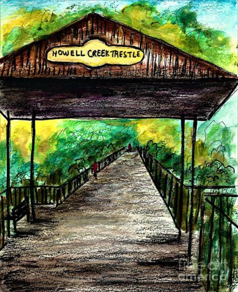 Painting - Howell Creek Trestle  by Allison Constantino