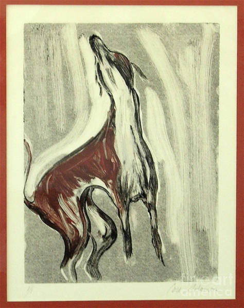 Sighthound Mixed Media - Howling For Joy by Cori Solomon