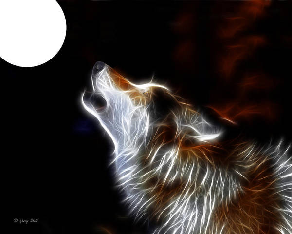 Photograph - Howling by Gerry Sibell