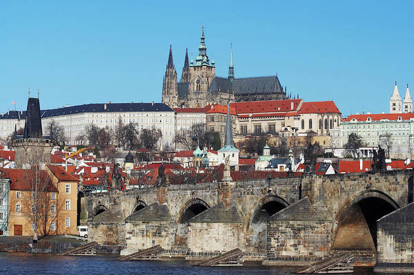 Cityspace Wall Art - Photograph - Hradcany - Cathedral Of St Vitus And Charles Bridge by Michal Boubin