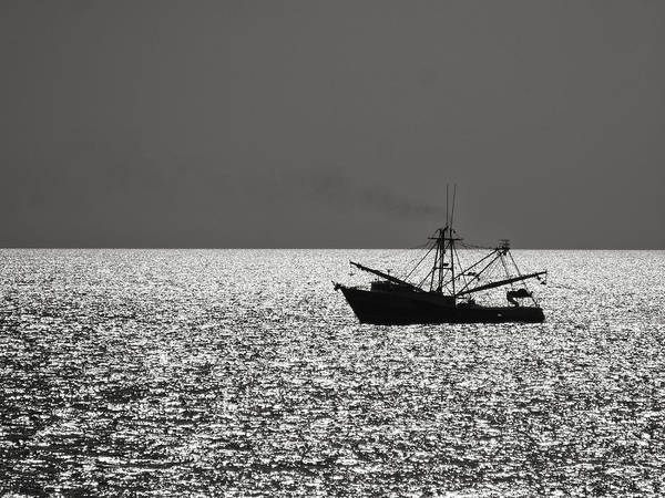 Photograph - Shrimp Boat Silhouette by Charles McKelroy