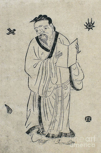 Tcm Wall Art - Photograph - Hua Tuo, Ancient Chinese Physician by Wellcome Images