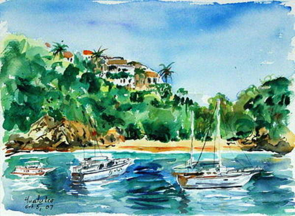 Painting - Huatulco Mexico I by Ingrid Dohm