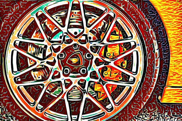 Photograph - Hub Cap Abstract by Alice Gipson
