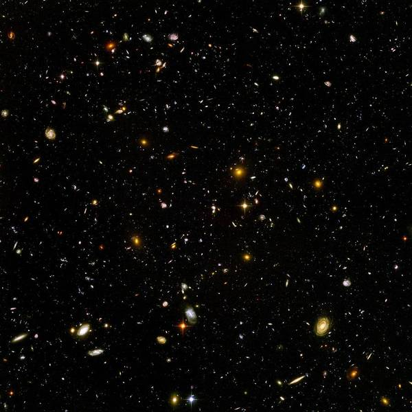 Photograph - Hubble Ultra Deep Field by NASA and the European Space Agency