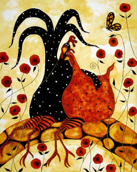 Fowl Painting - Lovers On A Bridge by Debi Hubbs