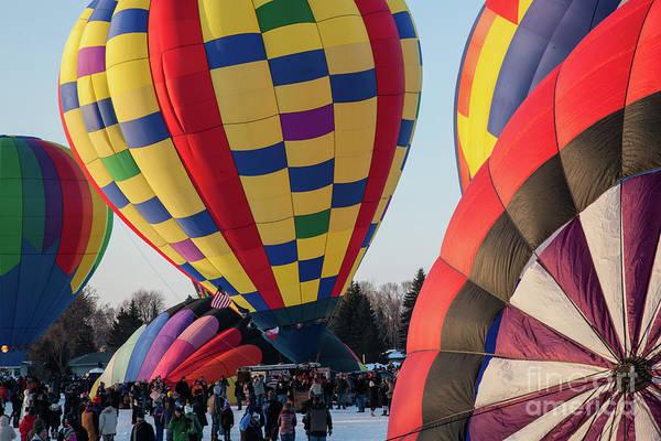 Photograph - Hudson Hot Air Balloon Festival 2018 Look At The Colors by Wayne Moran