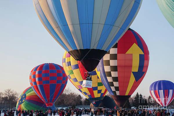 Photograph - Hudson Hot Air Balloon Festival 2018 Perfect Morning by Wayne Moran