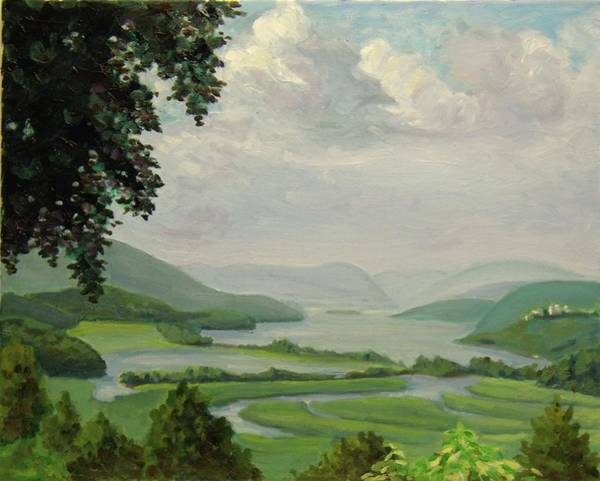 Painting - Hudson River Constitution Marshes by Nicolas Bouteneff