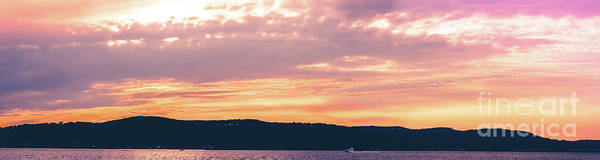 Wall Art - Photograph - Hudson River Sunset Panoramic by Colleen Kammerer