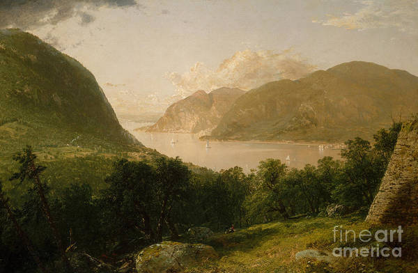 Upstate New York Painting - Hudson River Scene, 1857  by John Frederick Kensett