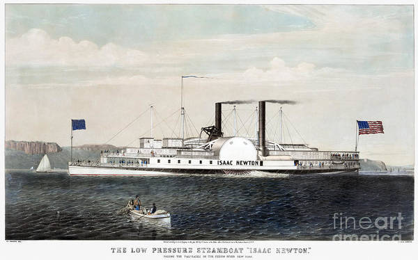 Photograph - Hudson River Steamship by Granger