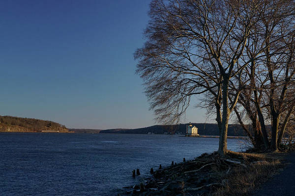 Photograph - Hudson River With Lighthouse by Nancy De Flon