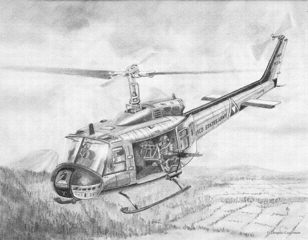 Drawing - Huey In Vietnam by Douglas Castleman