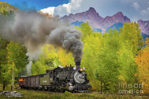 Steam Engine Photograph - Huffing And Puffing by Inge Johnsson