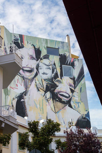 Wall Art - Photograph - Huge Graffiti In Athens Psirri Neighborhood by Iordanis Pallikaras