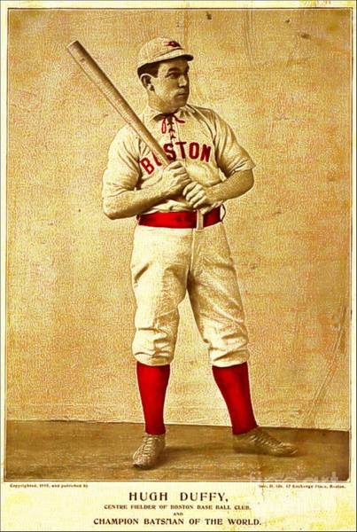 Fielder Photograph - Hugh Duffy Boston Red Sox 1895 by Audreen Gieger