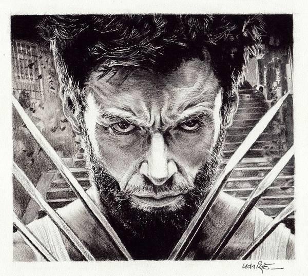 Singh Drawing - Hugh Jackman Wolverine by Pawan Singh