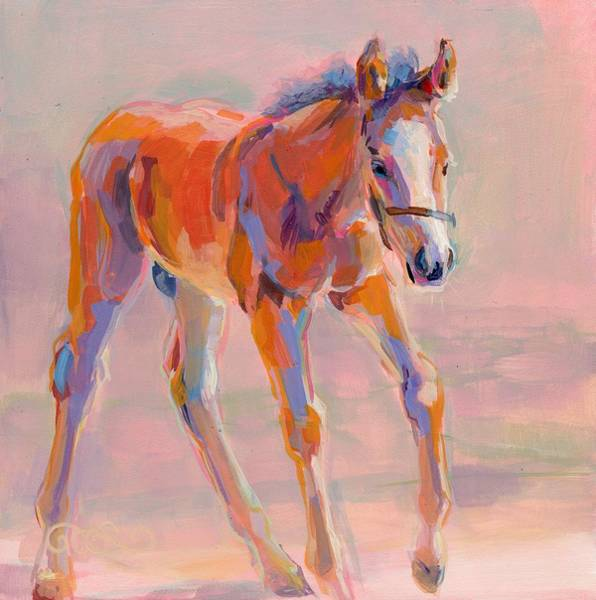 Thoroughbred Racing Wall Art - Painting - Hugo by Kimberly Santini