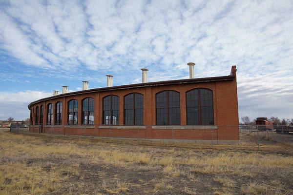 Union Pacific Railroad Wall Art - Photograph -  Hugo Union Pacific Railroad Roundhouse by Bridget Calip