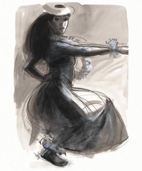 Painting - Kamehameha Hula Dancer by Judith Kunzle